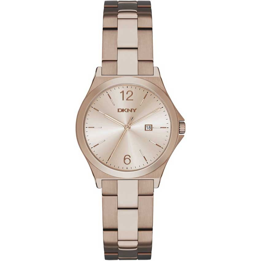 Ladies Beige Gold Tone Parsons Watch NY2368