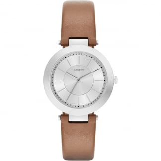 Ladies Brown Leather Stanhope Watch NY2293