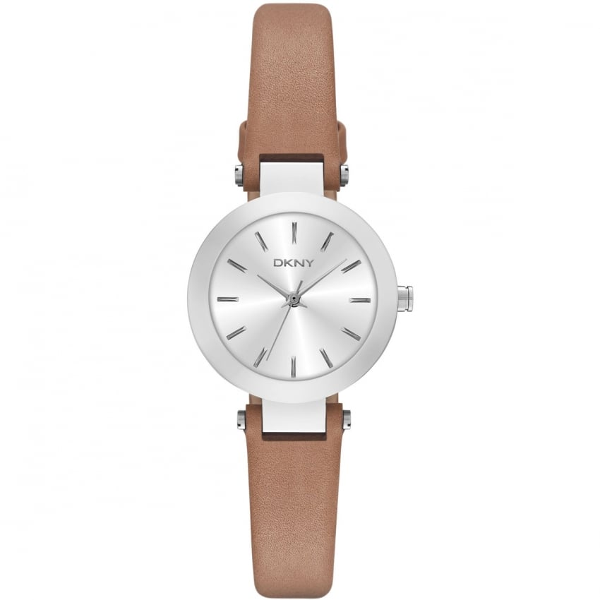 DKNY Ladies Brown Leather Strap Small Stanhope Watch NY2406