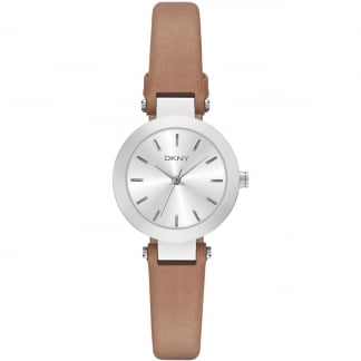 Ladies Brown Leather Strap Small Stanhope Watch NY2406