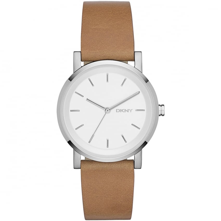 Ladies Brown Leather Strap Soho Watch NY2339