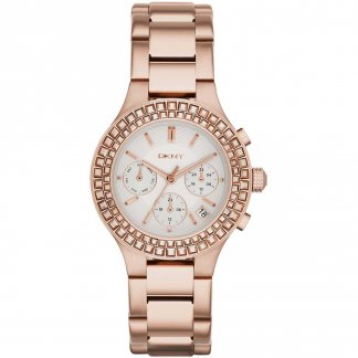 Ladies Chambers Rose Gold Chronograph Watch NY2261