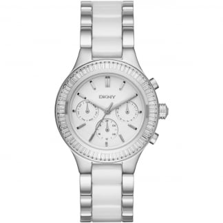 Ladies Chambers Steel & Ceramic Multifunction Watch NY2497