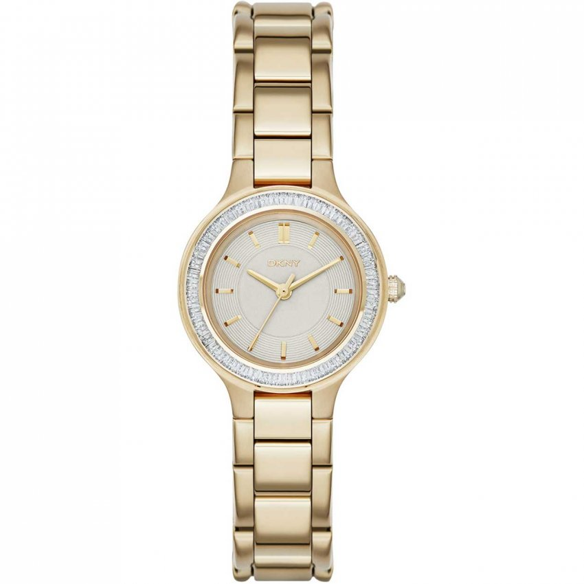 DKNY Ladies Gold Tone Glitzy Chambers Watch NY2392