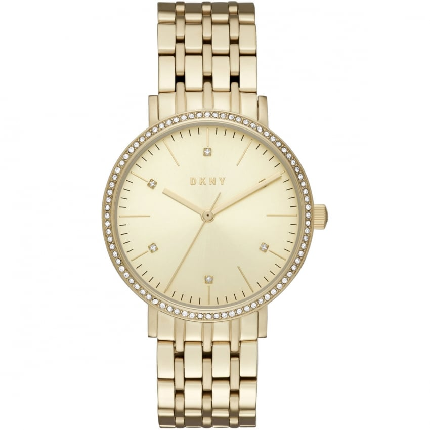 Ladies Gold Tone Stone Set Minetta Watch NY2607