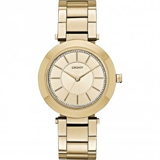 Ladies Gold Tone Stone Set Stanhope Watch NY2286