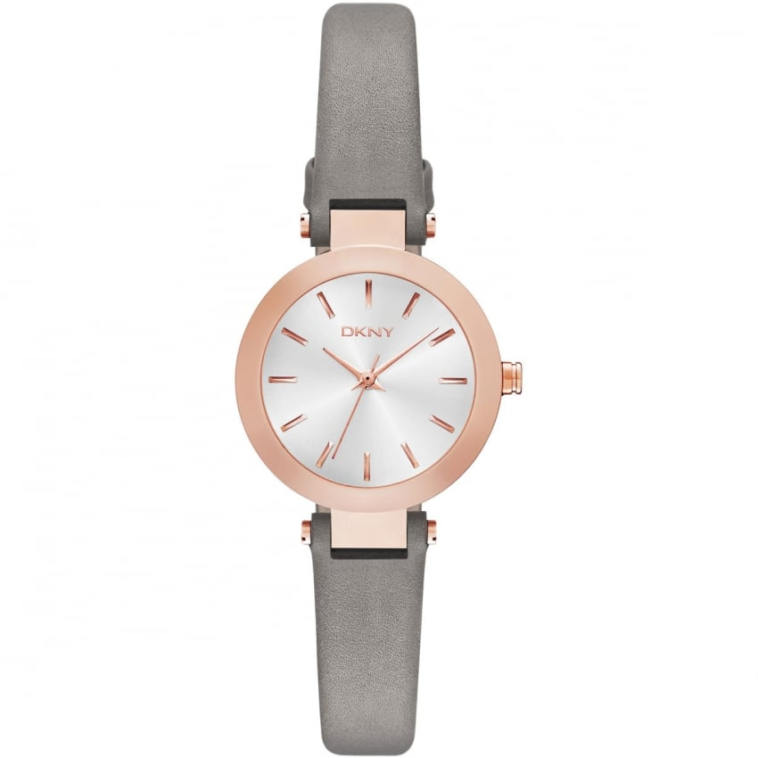 Ladies Grey and Rose Gold Small Stanhope Watch NY2408