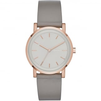 Ladies Grey and Rose Gold Soho Watch