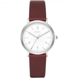 Ladies Minetta Brown Leather Strap Watch NY2508