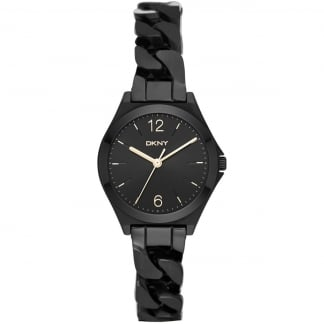 Ladies Parsons Black Curb Bracelet Watch NY2426