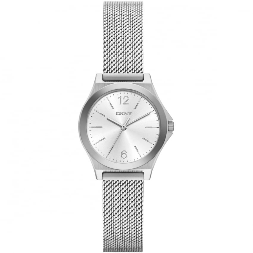 Ladies Parsons Silver Mesh Bracelet Watch NY2488