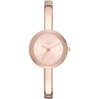 Ladies Rose Gold Half Bangle Murray Watch NY2600