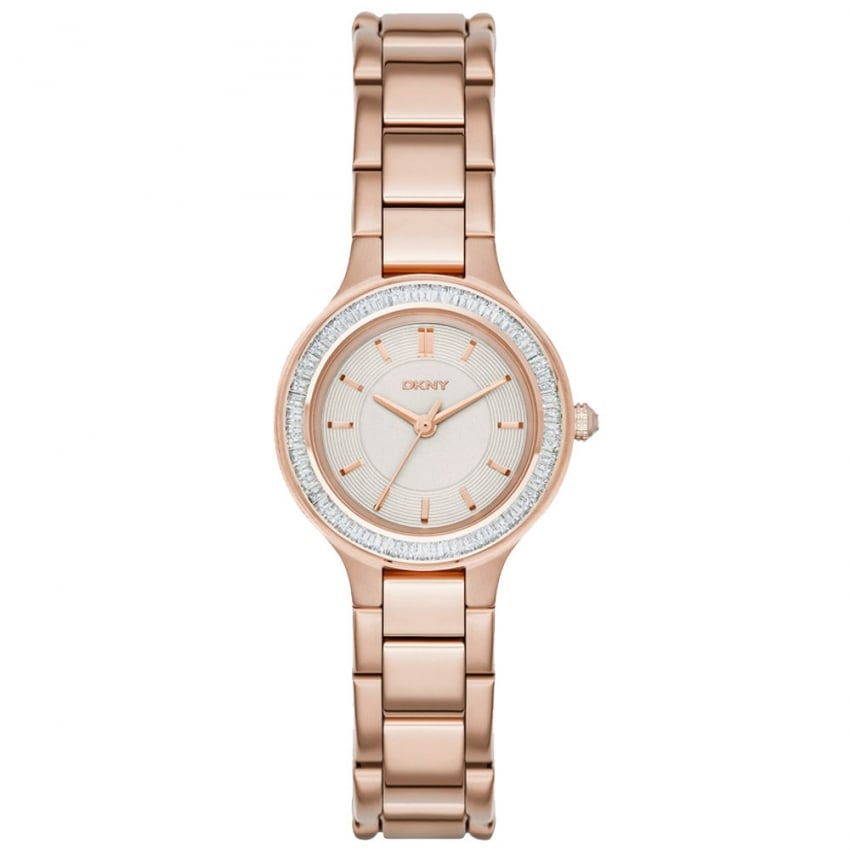 Ladies Rose Gold Plated Chambers Watch NY2393