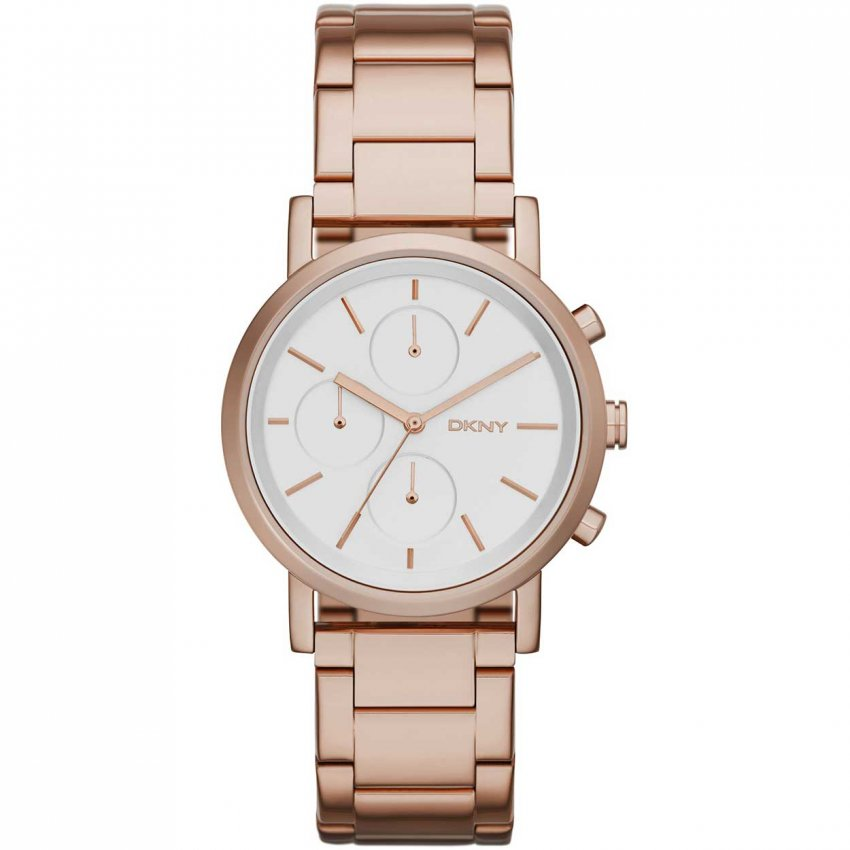 DKNY Ladies Rose Gold Soho Chronograph Watch NY2275