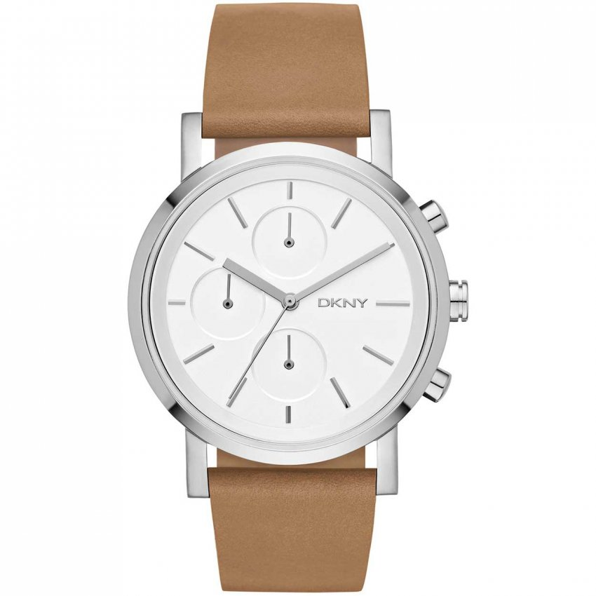 dkny soho brown leather chronograph watches