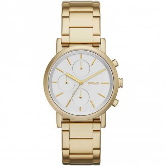 Ladies Soho Chronograph Gold Tone Bracelet Watch NY2274