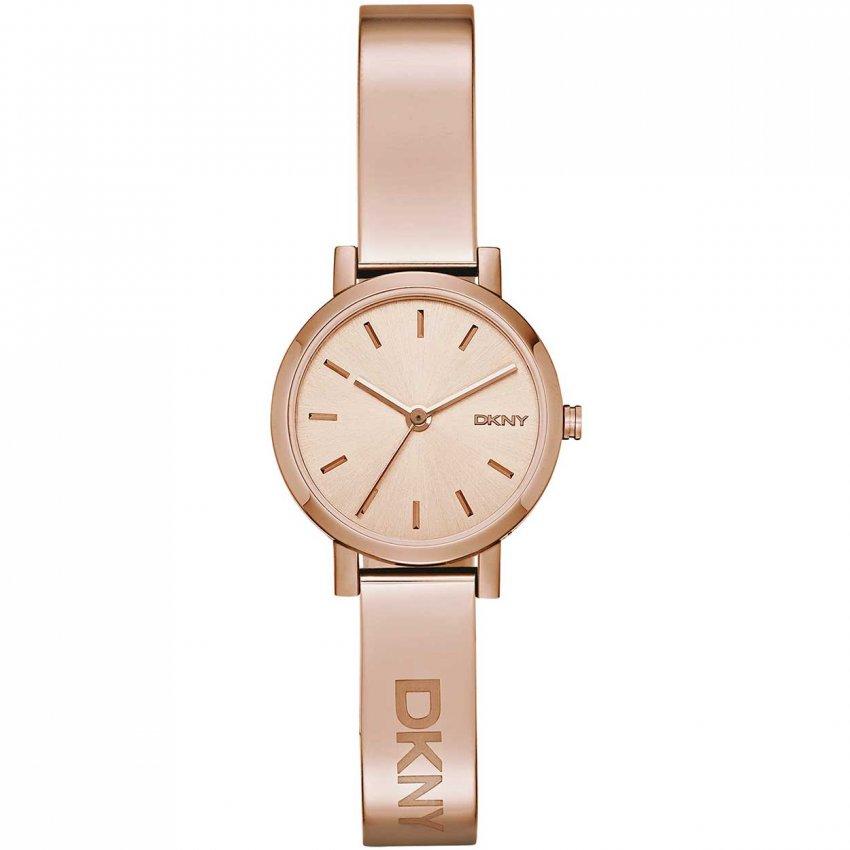 DKNY Ladies Soho Rose Gold Bangle Watch NY2308