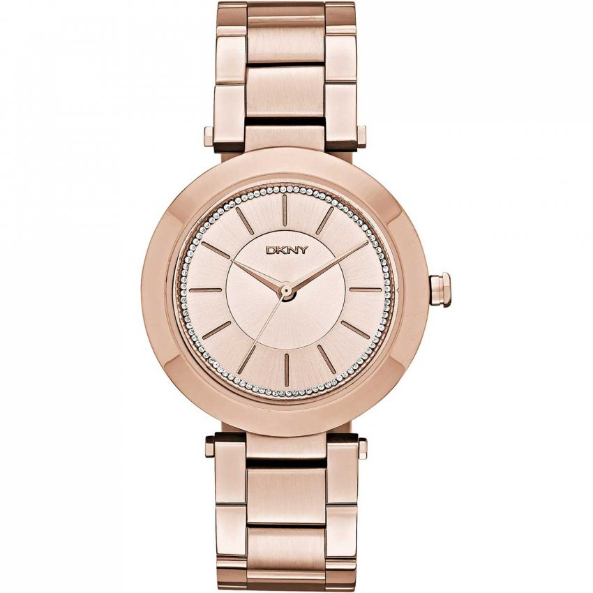 DKNY Ladies Stanhope 2.0 Glitzy Rose Gold Watch NY2287