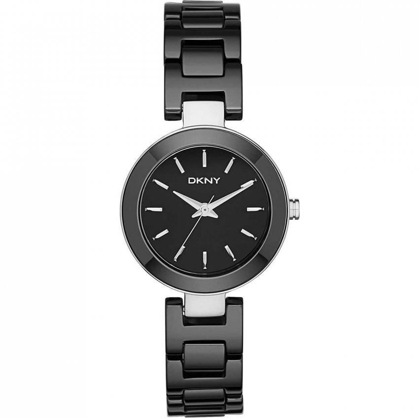 DKNY Ladies Stanhope Black Ceramic Watch NY2355