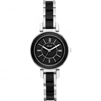 Ladies Steel and Black Ceramic Ellington Watch NY2590