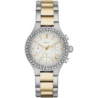 Ladies Stone Set Two Tone Chambers Watch NY2260
