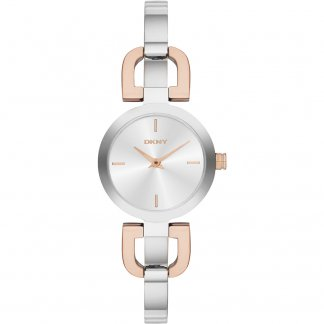 Ladies Two Tone Reade Half Bangle Watch