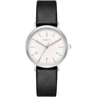 Women's Minetta Black Leather Quartz Watch NY2506