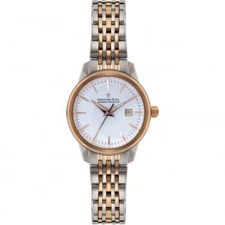 Ladies 1890 Steel & Rose Swiss Quartz Watch DLB00127/02