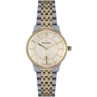 Ladies Bi-Colour 1890 Swiss Quartz Watch with MOP Dial DLB00135/41