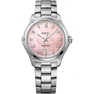 Ladies Discovery Pink MoP Diamond Dial Watch