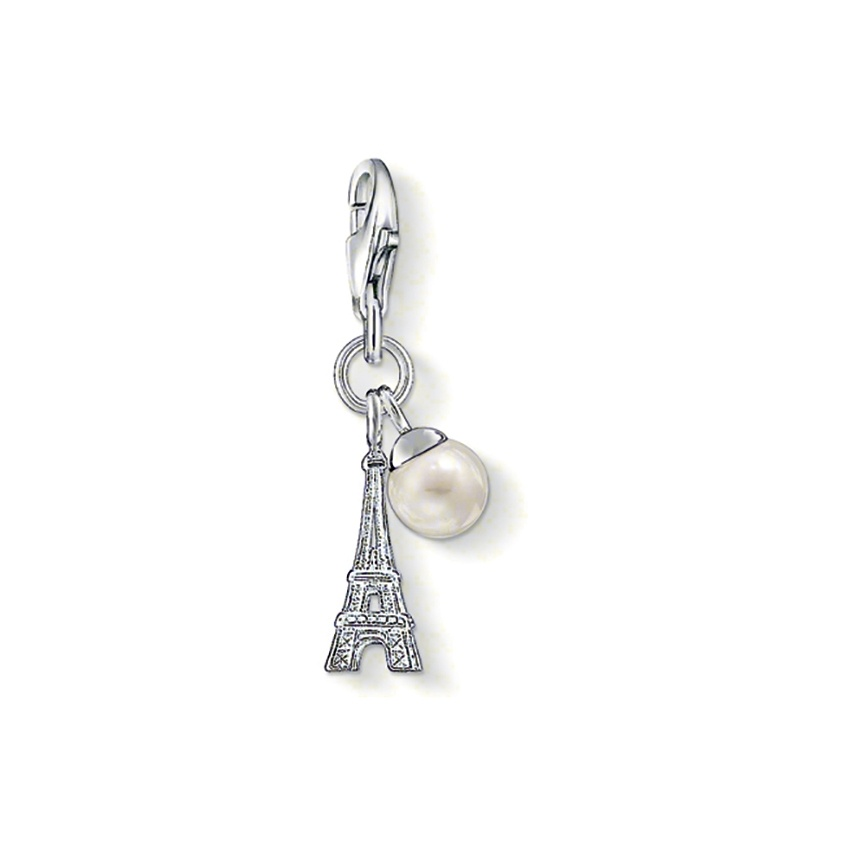 Thomas Sabo Eiffel Tower Charm with Pearl 0770-082-14