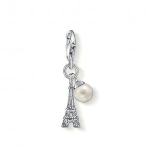 Eiffel Tower Charm with Pearl