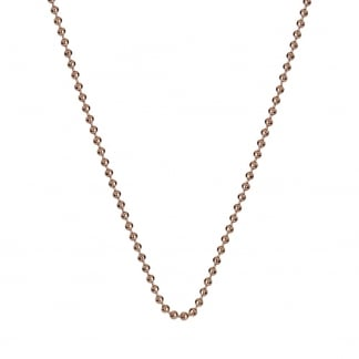76cm Rose Gold Beaded Chain