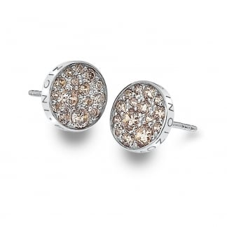 Champagne Stone Set Scintilla Earrings