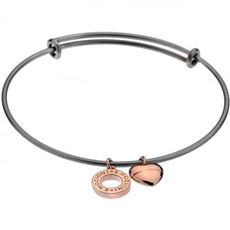 Emozioni Rose Gold Plated Bangle