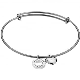 Emozioni Silver Plated Bangle