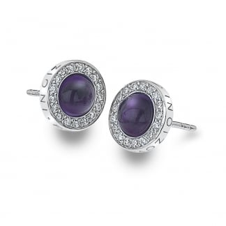 Purple Fantasy Giove Earring Studs