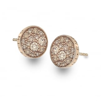 Rose Gold Stone Set Scintilla Earrings