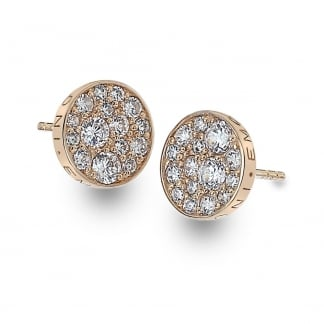 Stone Set Rose Gold Earring Studs