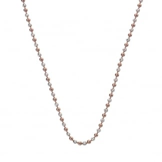 Two Tone Beaded 76cm Necklace