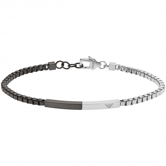 Black and Silver Bar Bracelet