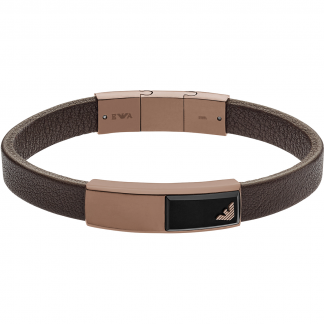 Brown Men's Leather Bracelet