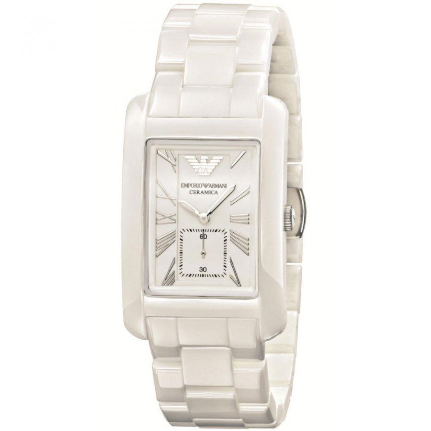 Emporio Armani Mid-size White Ceramic Bracelet Watch AR1408