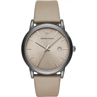 Gent's Taupe Leather Dress Watch
