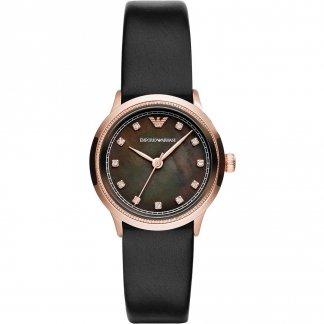 Ladies Black Mother of Pearl Dial Watch AR1802