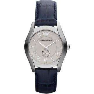 Ladies Blue Croco Leather Strap Watch AR1668