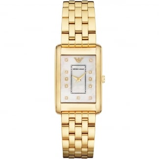 Ladies Gold Plated Bracelet Watch AR1904