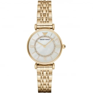 Ladies Gold Plated T-Bar Watch AR1907
