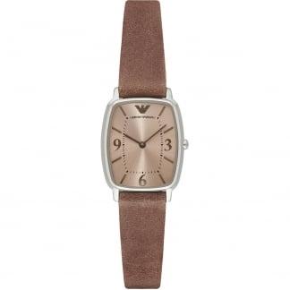 Ladies Light Brown Leather Strap Watch AR2497