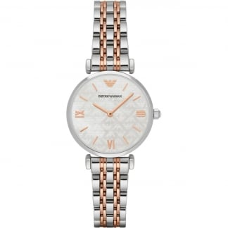 Ladies Mother of Pearl Dial Two Tone Watch AR1987
